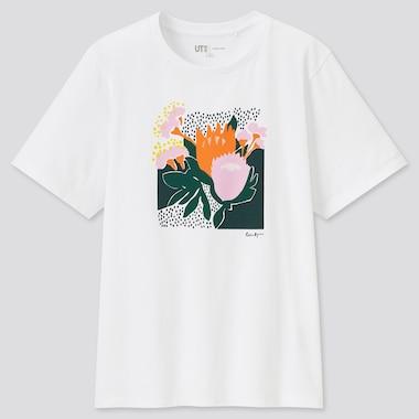 Women Cassie Byrnes Ut (Short-Sleeve Graphic T-Shirt), White, Medium