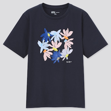 Women Cassie Byrnes Ut (Short-Sleeve Graphic T-Shirt), Navy, Medium