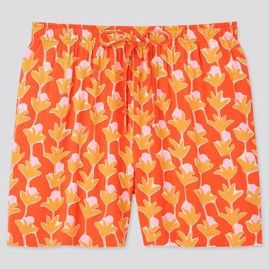 Women Cassie Byrnes Relaco Shorts, Orange, Medium