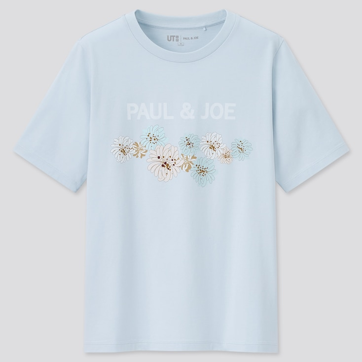 Women Paul & Joe Ut (Short-Sleeve Graphic T-Shirt), Light Blue, Large