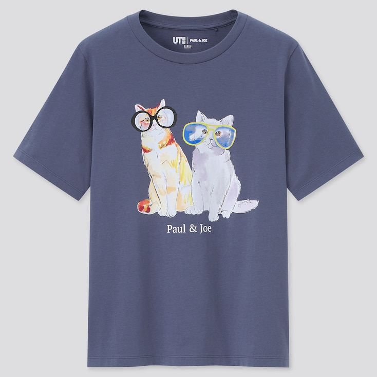 Women Paul & Joe Ut (Short-Sleeve Graphic T-Shirt), Gray, Large
