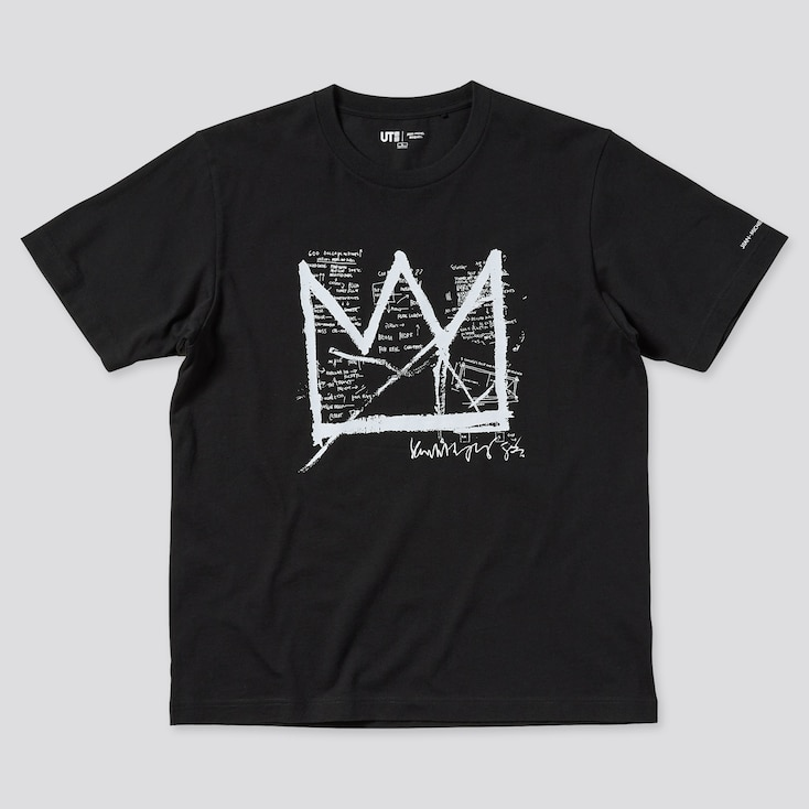 Jean-Michel Basquiat Ut (Short-Sleeve Graphic T-Shirt), Black, Large