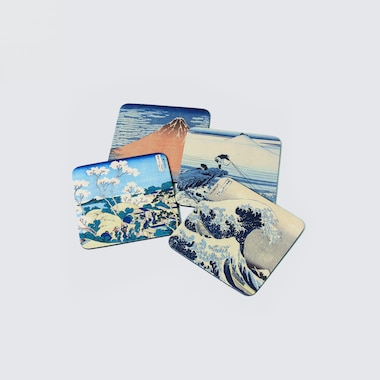 Coaster Set (Hokusai) (Set Of 4), Other, Medium