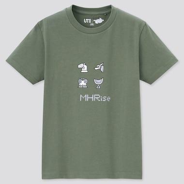 Kids Monster Hunter Rise Ut (Short-Sleeve Graphic T-Shirt), Green, Medium