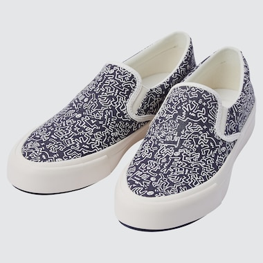 KEITH HARING  COTTON CANVAS SLIP-ON SHOES