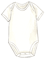 Newborn Cotton Mesh Inner Short-Sleeve Bodysuit