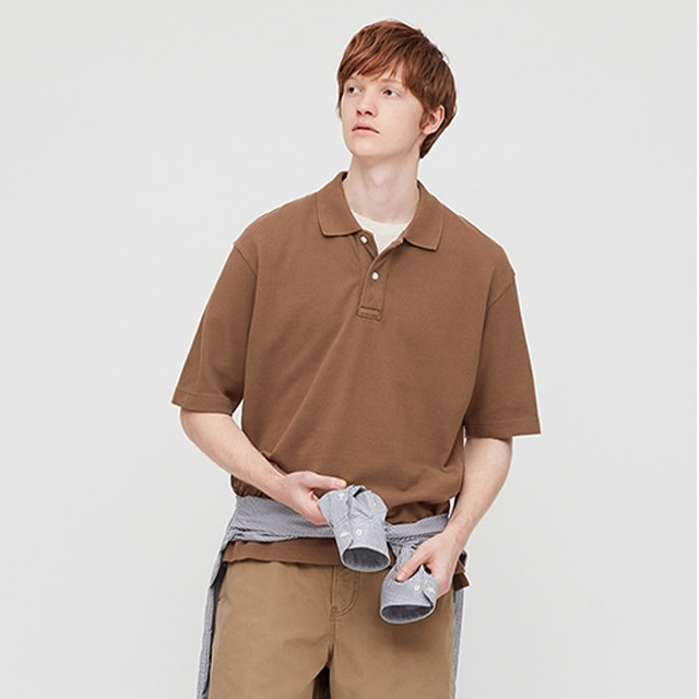 Cotton Pique Oversized Polo Shirt