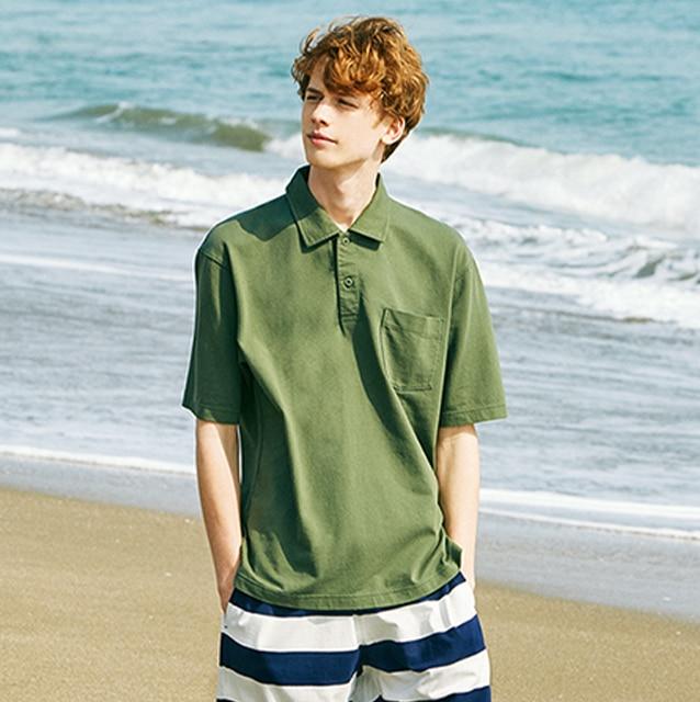 Cotton Jersey Oversized Polo Shirt