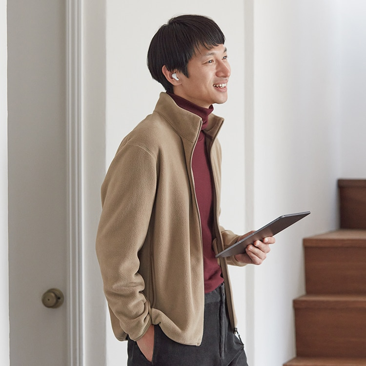 Fleece Long-Sleeve Full Zip Jacket image 1