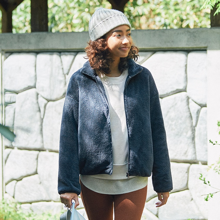Fluffy Yarn Fleece Full-Zip Jacket image 1