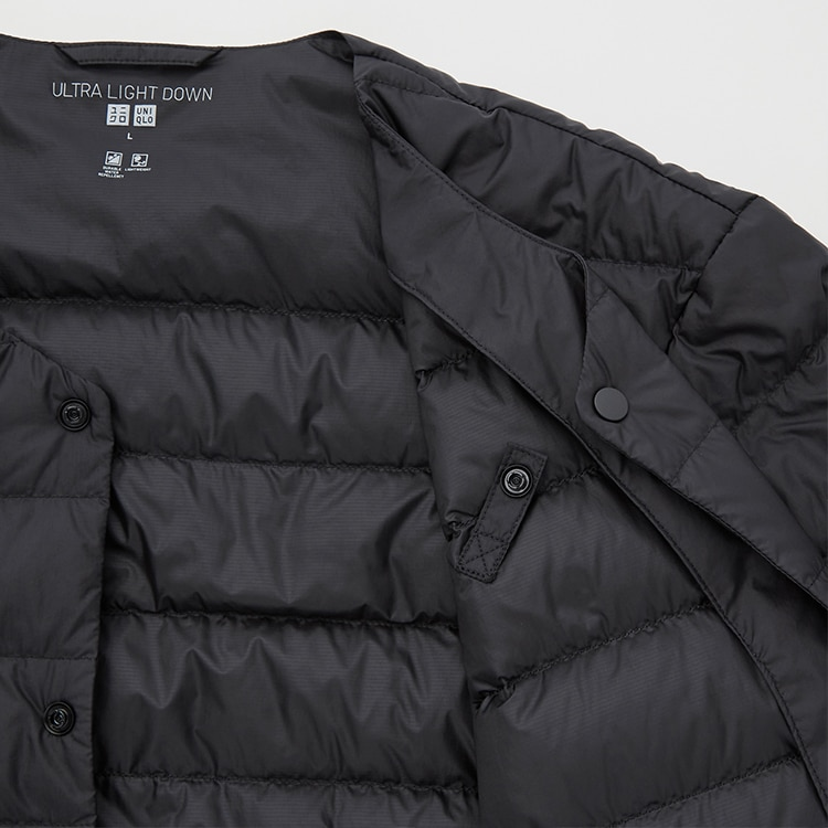 The durable water-repellent coating can handle a sudden shower of rain. The anti-static lining prevents uncomfortable static and holds the down filling in.