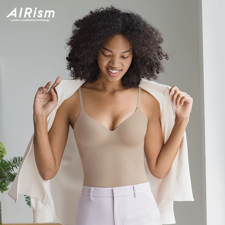 AIRism Seamless V-Neck Camisole Bra Top image 1