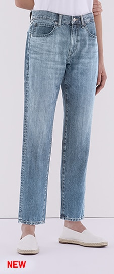Relaxed Tapered Ankle Jeans