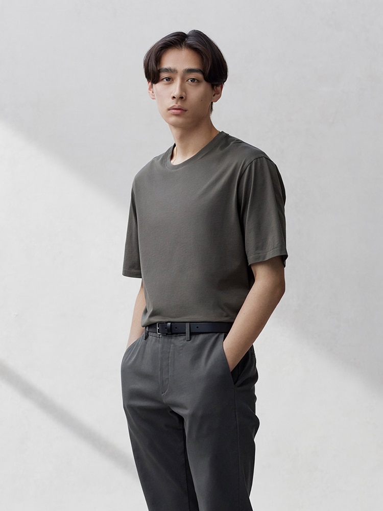 Men's +J Supima© Cotton Relaxed-Fit Crew Neck Short-Sleeve T-shirt image 1