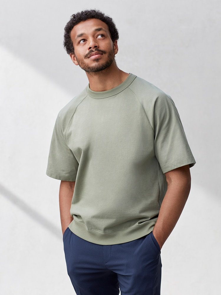 Men's Raglan Sleeve Half-Sleeve T-Shirt image 1