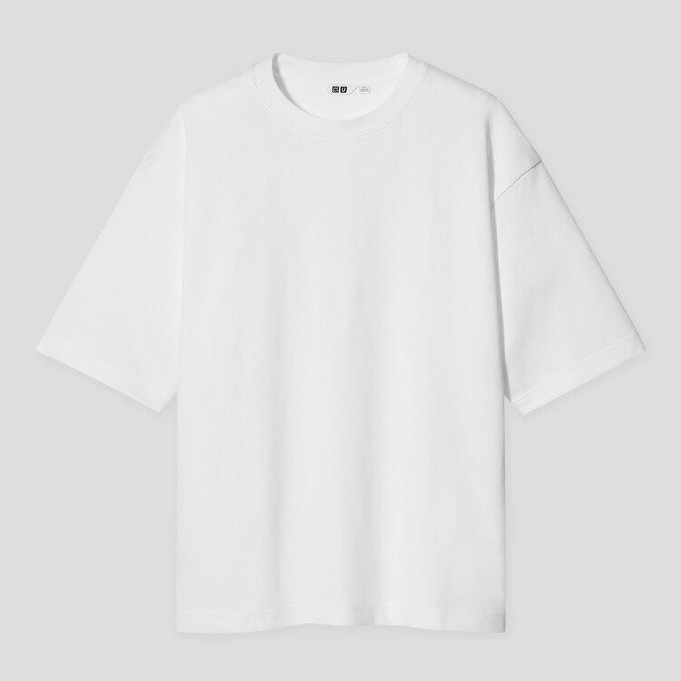 U AIRism Cotton Oversized Crew Neck T-Shirt