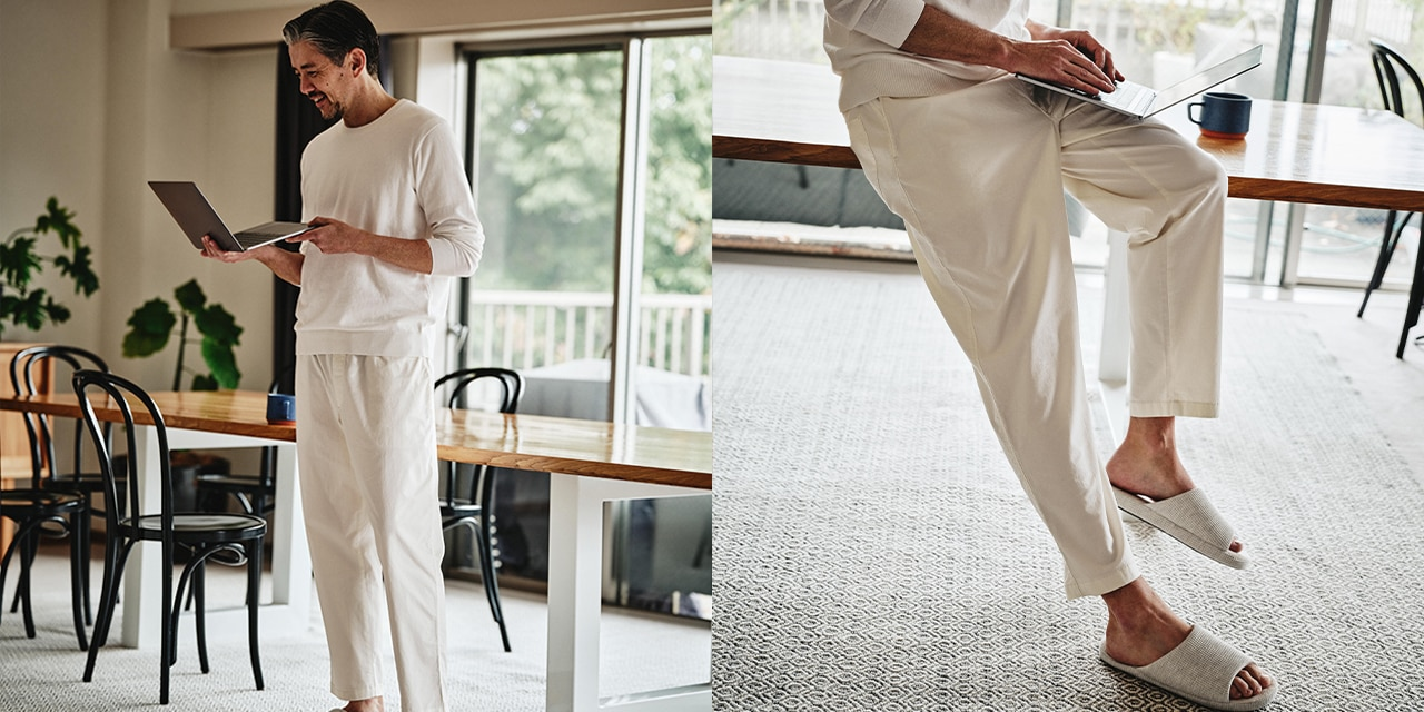 Cotton Relaxed Ankle Pants image 1