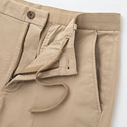 The drawstring waist provides a great fit without a belt.