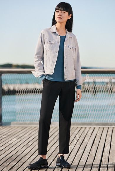 EZY TUCKED ANKLE-LENGTH PANTS.