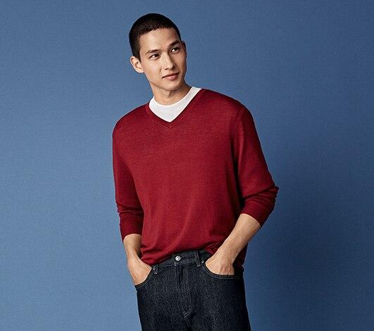 039d589ff2b Men's Sweaters: Extra Fine Merino & Fashion Sweaters | UNIQLO US