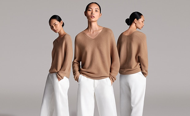 3D COTTON COCOON SWEATER