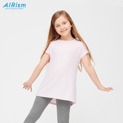 Girls AIRism Short-Sleeve Crew Neck Tunic