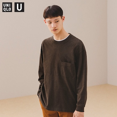 New! U Crew Neck Long-Sleeve T-Shirt