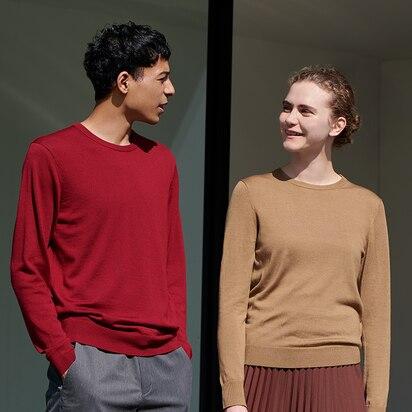 Extra Fine Merino Crew Neck Sweaters