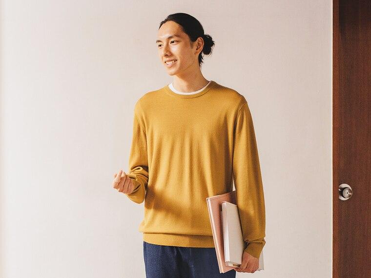 women extra fine merino crew neck sweaters