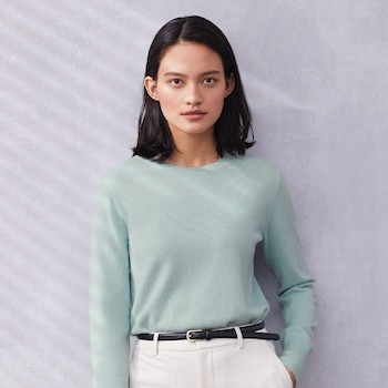 Cashmere Crew Neck Long-Sleeve Sweaters