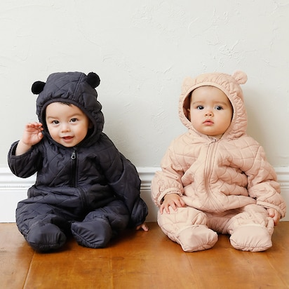 Newborn Warm Padded Long-Sleeve One-Piece Outfits (Online Exclusive)