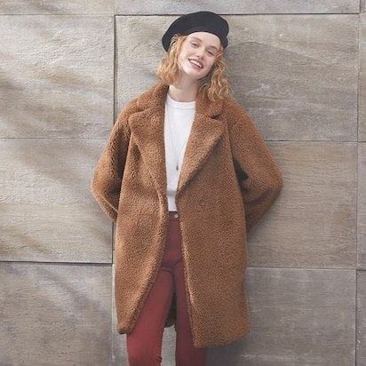Pile-Lined Fleece Tailored Coats