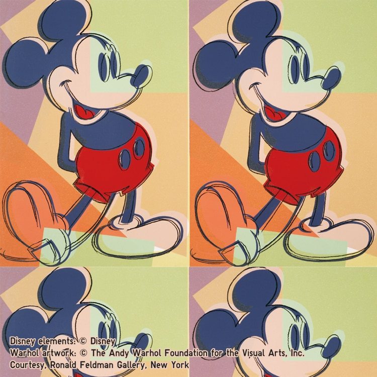 DISNEY_MICKEY_MOUSE_art_by_Andy_Warhol tile
