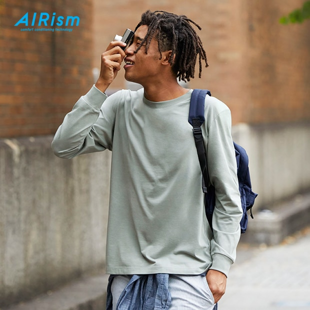 Combining cottons softness with AIRisms always-smooth, moisture-wicking technology.