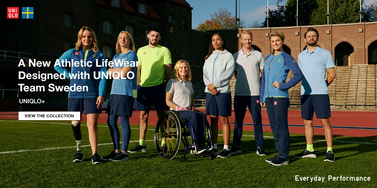 A New Athletic Lifewear Designed With Uniqlo Team Sweden