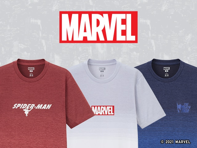 Just Arrived! Marvel DRY-EX T-Shirts