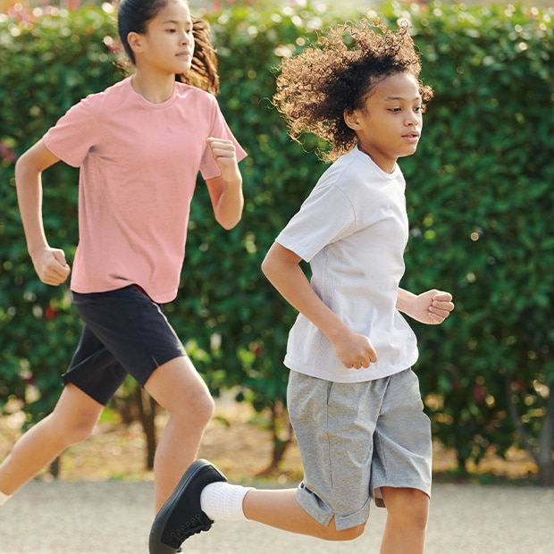 Better-than-basic tees with hidden high-performace functionality keep kids comfortable.