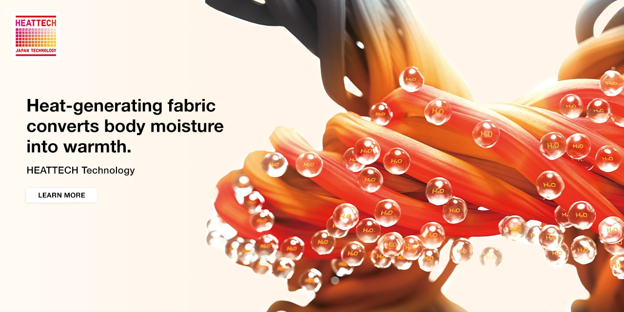 Innovative fabric that generates heat from your body.