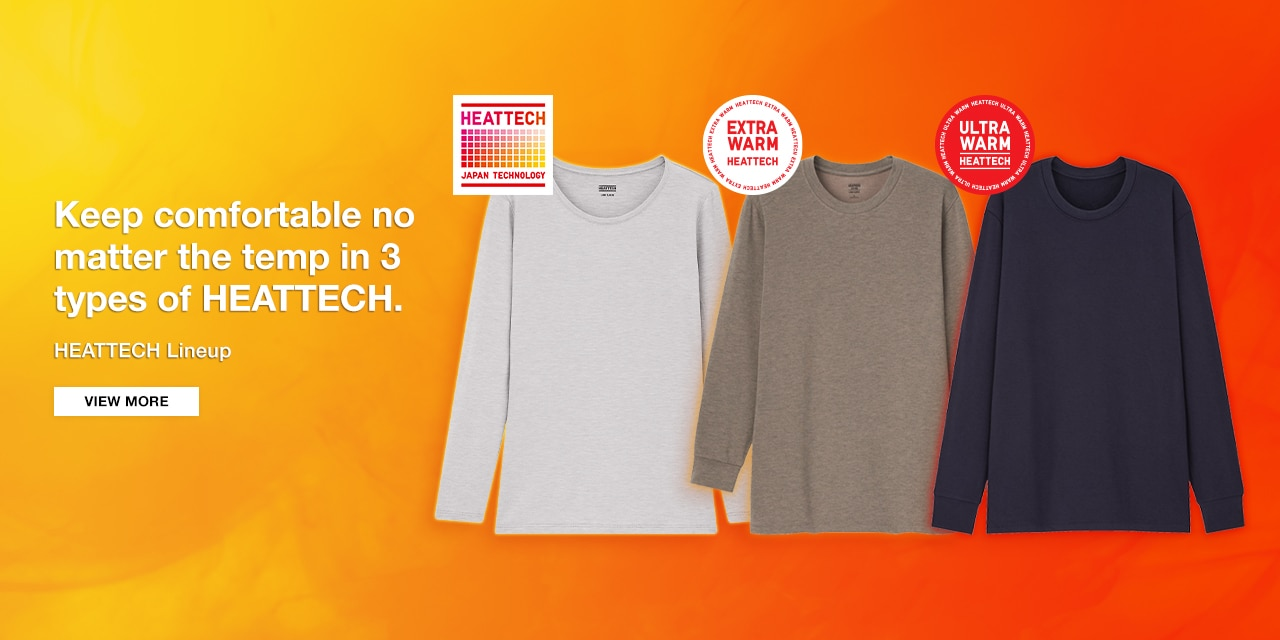 Keep comfortable no matter the temp in 3 types of HEATTECH.