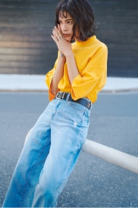 HIGH-RISE WIDE CROPPED JEANS