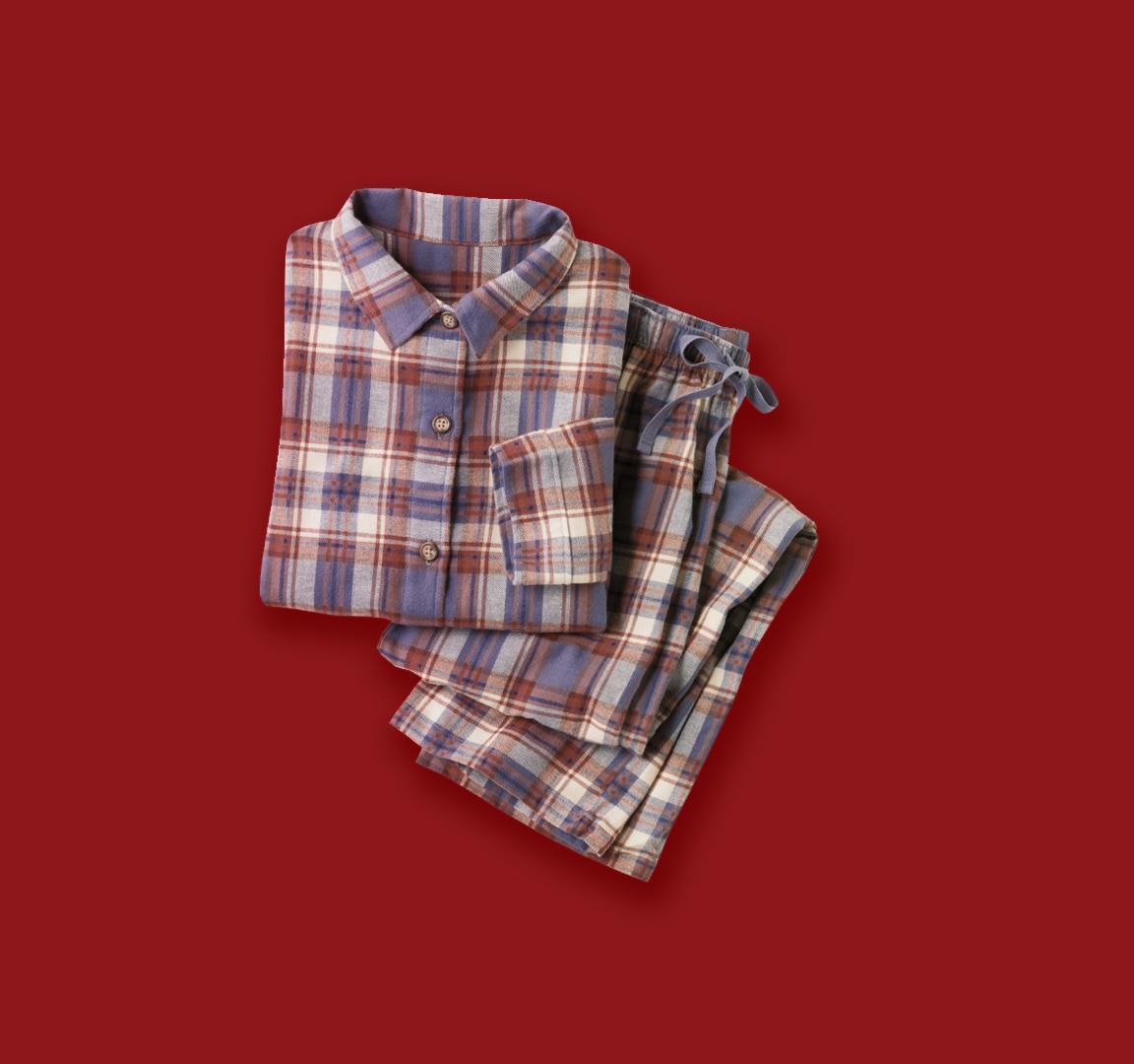 Flannel Loungewear detail