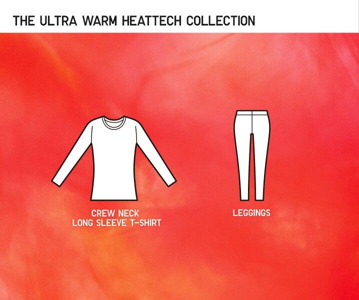 illustration of items in ultra warm heattech range