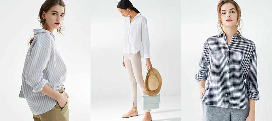 design distinctif styles de mode large éventail Chemises et blouses en lin Femme | UNIQLO