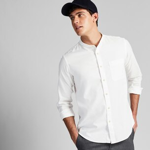 MEN SOFT TWILL STAND COLLAR LONG-SLEEVE SHIRT (ONLINE EXCLUSIVE)/us/en/men-soft-twill-stand-collar-long-sleeve-shirt-online-exclusive-421166.html