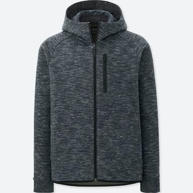 men dry stretch sweat full-zip hoodie