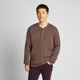 MEN WAFFLE HENLEY NECK LONG-SLEEVE T-SHIRT/us/en/men-waffle-henley-neck-long-sleeve-t-shirt-418700.html