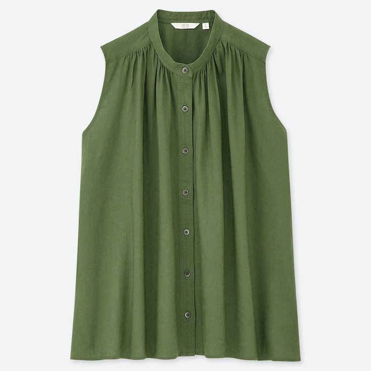 6114f51084f417 Women Linen | Shirts & Blouses | Outerwear | UNIQLO UK