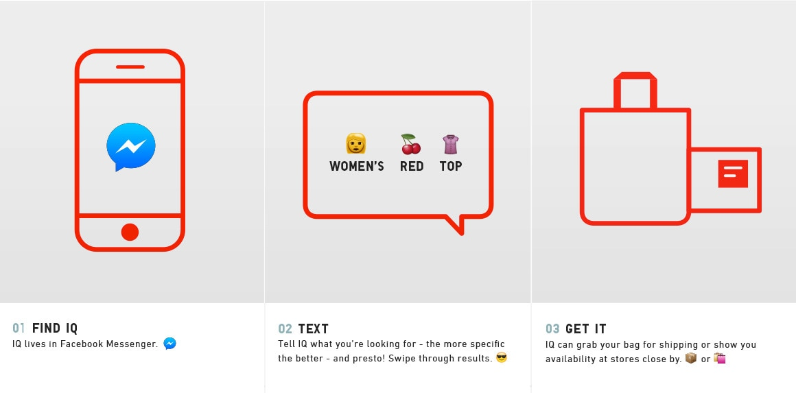 Uniqlo IQ Facebook Messenger Chat bot FAQ and HELP Page | UNIQLO US
