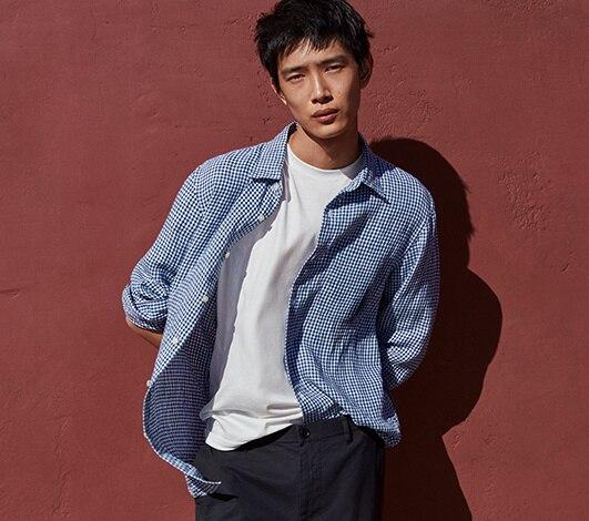 Men's linen collection hero image
